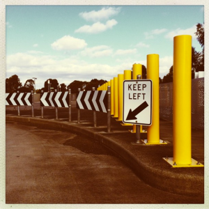 Keep left. Photo by me.