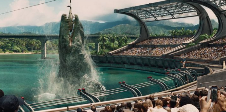 This is not the most unbelievable thing about Jurassic World. At least mosasaurs actually existed.